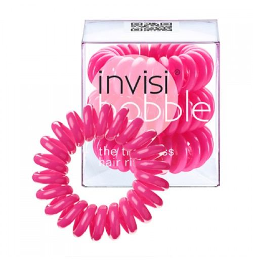 Hair Ring 3-pack Candy Pink